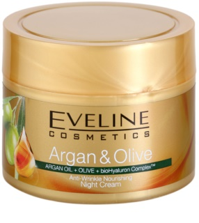Eveline Cosmetics Argan & Olive creme de noite nutritivo antirrugas