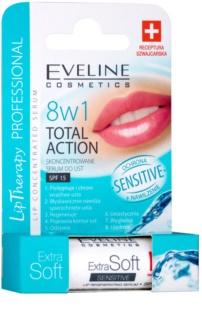 Eveline Cosmetics Extra Soft Sensitive bálsamo de lábios SPF 15