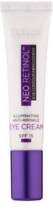 Eveline Cosmetics Neo Retinol crema antiarrugas con efecto luminoso para contorno de ojos SPF15