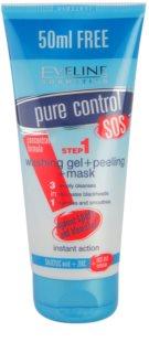 Eveline Cosmetics Pure Control gel za čišćenje 3 u 1