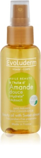 Evoluderm Beauty Oil aceite embellecedor para rostro y cabello con extractos de almendras