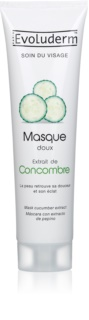 Evoluderm Face Care masque visage aux extraits de concombre