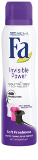 Fa Invisible Power antitranspirantes em spray