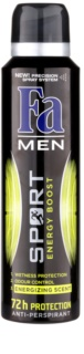 Fa Men Sport Energy Boost antitranspirantes em spray