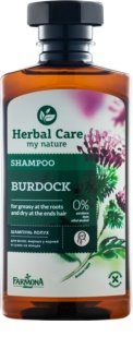 Farmona Herbal Care Burdock šampon za mastno lasišče in suhe konice las