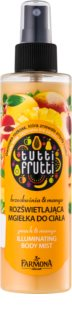 Farmona Tutti Frutti Peach & Mango tápláló és bőrkisimító hatású csillogó test permet