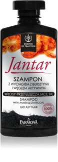 Farmona Jantar šampon s aktivními složkami uhlí pro mastné vlasy