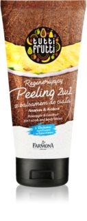 Farmona Tutti Frutti Pineapple & Coconut tělový peeling a mléko do sprchy 2v1