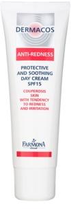 Farmona Dermacos Anti-Redness zaščitna in pomirjevalna dnevna krema SPF 15