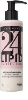 Farmona Dermiss Lipid Protection mascarilla-crema nutritiva de noche para manos y uñas