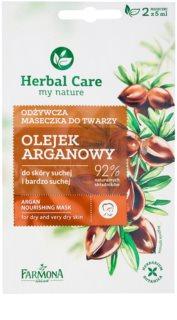 Farmona Herbal Care Argan Oil Voedende Masker  voor Droge tot Zeer Droge Huid