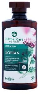 Farmona Herbal Care Burdock champô para couro cabeludo oleoso e pontas secas