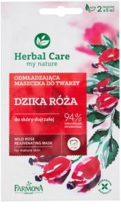 Farmona Herbal Care Wild Rose omladzujúca maska pre zrelú pleť