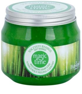 Farmona Magic Time Juicy Bamboo cukrowy  peeling do ciała do nawilżenia i ujędrnienia skóry
