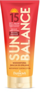 Farmona Sun Balance водостійке молочко для засмаги SPF 15