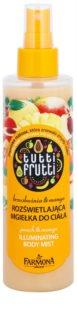 Farmona Tutti Frutti Peach & Mango Glitzer-Bodynebel mit nährender und glättender Wirkung