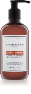 Fellows for Him Autumn Warmth shampoing cheveux et barbe
