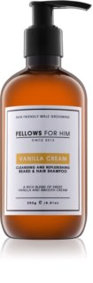 Fellows for Him Vanilla Cream champô para cabelo e barba