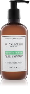 Fellows for Him Coconut & Lime Shampoo voor Haar en Baard