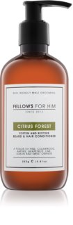 Fellows for Him Citrus Forest conditionneur pour barbe et cheveux