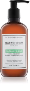 Fellows for Him Coconut & Lime condicionador para cabelo e barba