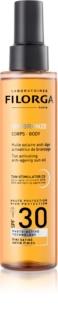 Filorga Medi-Cosmetique UV Bronze ochranný olej pre podporu opálenia SPF30