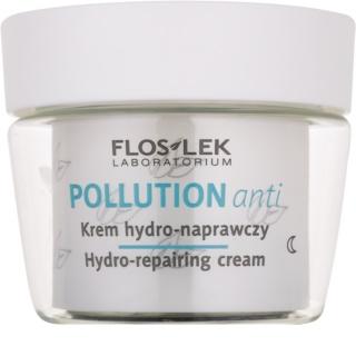 FlosLek Laboratorium Pollution Anti хидратиращ нощен крем с регенериращ ефект