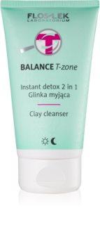FlosLek Laboratorium Balance T-Zone Reinigungsemulsion und Maske für Mischhaut