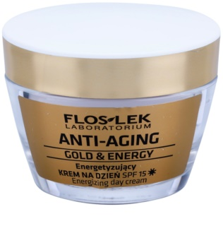FlosLek Laboratorium Anti-Aging Gold & Energy енергизиращ дневен крем SPF15