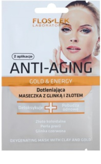 FlosLek Laboratorium Anti-Aging Gold & Energy Anti-Oxidantienmaske mit gold und Tonerde
