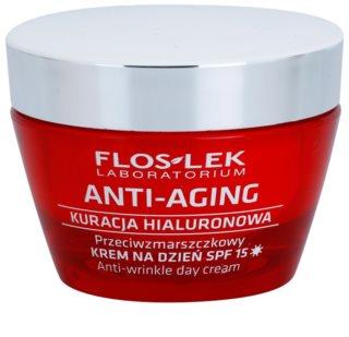 FlosLek Laboratorium Anti-Aging Hyaluronic Therapy дневен хидратиращ крем против стареене на кожата SPF15