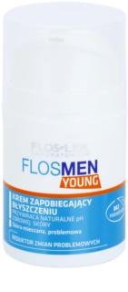 FlosLek Laboratorium FlosMen Young крем против мазна кожа и разширени пори
