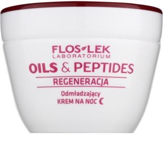 FlosLek Laboratorium Oils & Peptides Regeneration 60+ creme de noite regenerador  com efeito rejuvenescedor