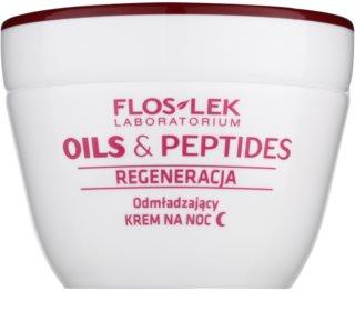 FlosLek Laboratorium Oils & Peptides Regeneration 60+ regenerierende Nachtcreme mit Verjüngungs-Effekt