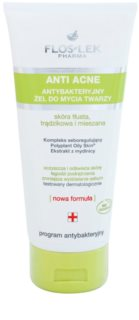 FlosLek Pharma Anti Acne gel detergente per pelli grasse con tendenza all'acne