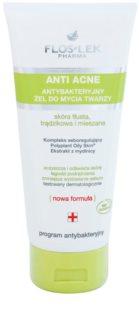 FlosLek Pharma Anti Acne антибактериален почистващ гел без парабени
