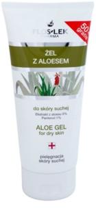 FlosLek Pharma Dry Skin Aloe Vera gel regenerador para rosto e decote