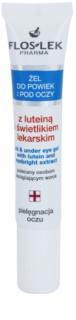 FlosLek Pharma Eye Care Gel für den Augenbereich mit Lutein und Gemeinem Augentrost