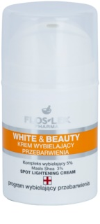 FlosLek Pharma White & Beauty crema blanqueadora  para el tratamiento local