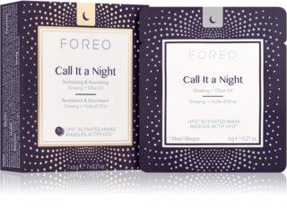 FOREO UFO™ Call It a Night éjszakai revitalizáló megújító maszk tápláló hatással