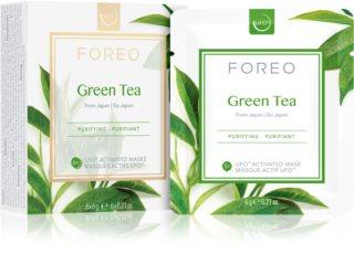 FOREO Farm to Face Green Tea mascarilla refrescante y calmantere