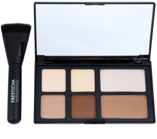 Freedom Pro Powder Strobe Palette To Facial Contours With Brush