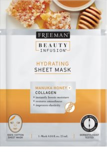 Freeman Beauty Infusion Manuka Honey + Collagen hydraterende sheet mask voor Alle Huidtypen
