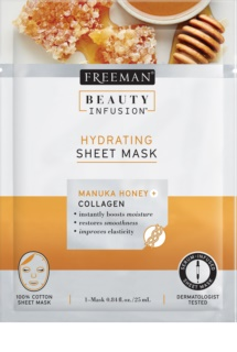 Freeman Beauty Infusion Manuka Honey + Collagen Feuchtigkeit spendende Tuchmaske für alle Hauttypen