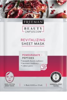 Freeman Beauty Infusion Pomegranate + Peptides Revitalisierende Tuchmaske für alle Hauttypen