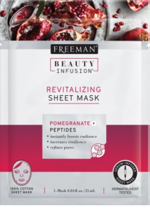 Freeman Beauty Infusion Pomegranate + Peptides revitaliserend maskerdoekje voor Alle Huidtypen