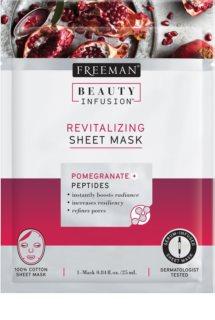 Freeman Beauty Infusion Pomegranate + Peptides Revitalisierende Tuchmaske für alle Hauttypen