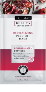 Freeman Beauty Infusion Pomegranate + Peptides maschera peel-off rivitalizzante viso