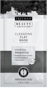 Freeman Beauty Infusion Charcoal + Probiotics maschera detergente all'argilla viso