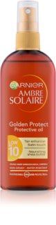 Garnier Ambre Solaire Golden Protect olej na opalování SPF 10